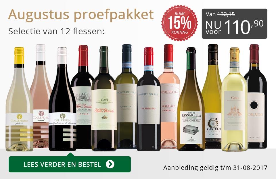 Proefpakket wijnbericht augustus 2017 (110,90) - grijs/goud