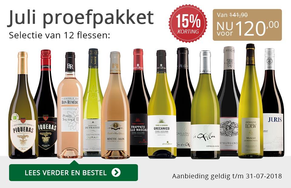 Proefpakket wijnbericht juli 2018 (120,00) - grijs/goud