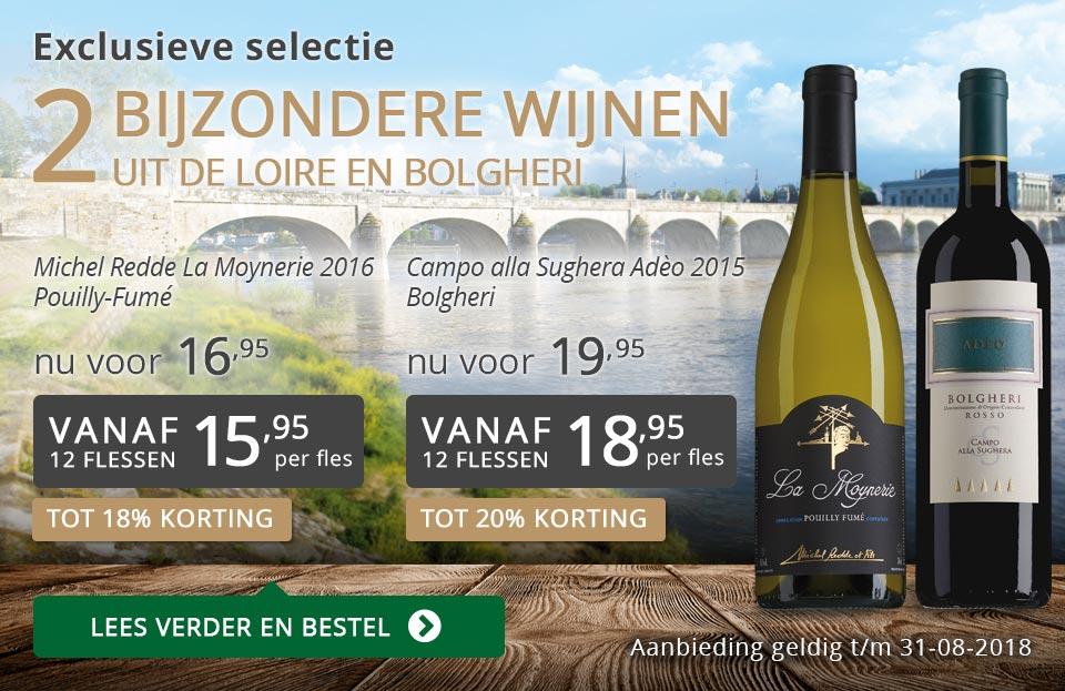 Exclusieve wijnen augustus 2018 - grijs/goud