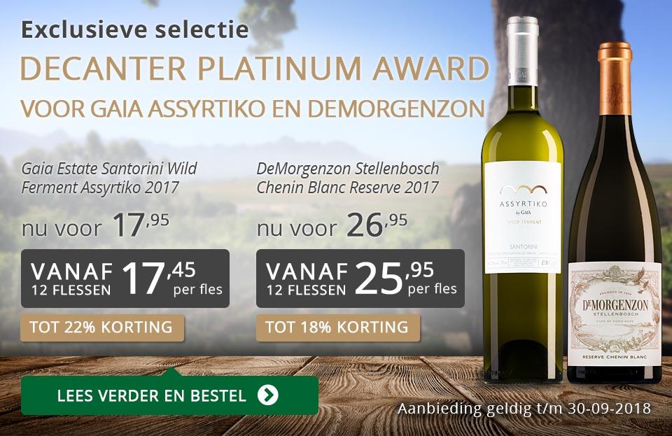 Exclusieve wijnen september 2018 - grijs/goud