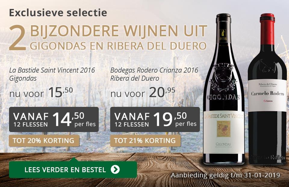 Twee bijzondere wijnen januari 2019 - grijs/goud