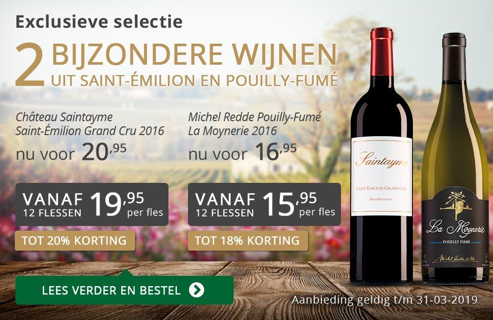 Twee bijzondere wijnen maart 2019 - grijs/goud
