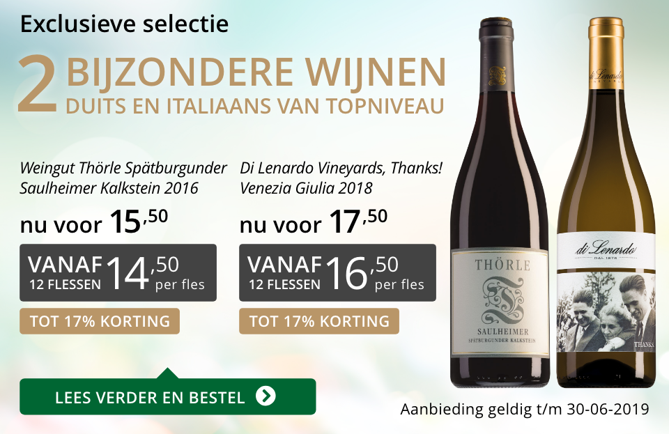 Twee bijzondere wijnen juni 2019 - grijs/goud