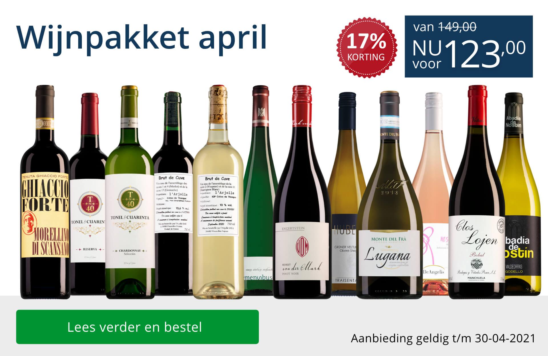 Wijnpakket wijnbericht april 2021 (123,00) - blauw