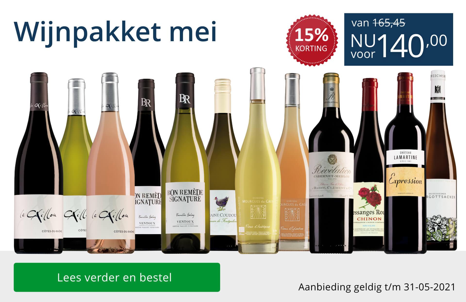 Wijnpakket wijnbericht mei 2021 (140,00) - blauw