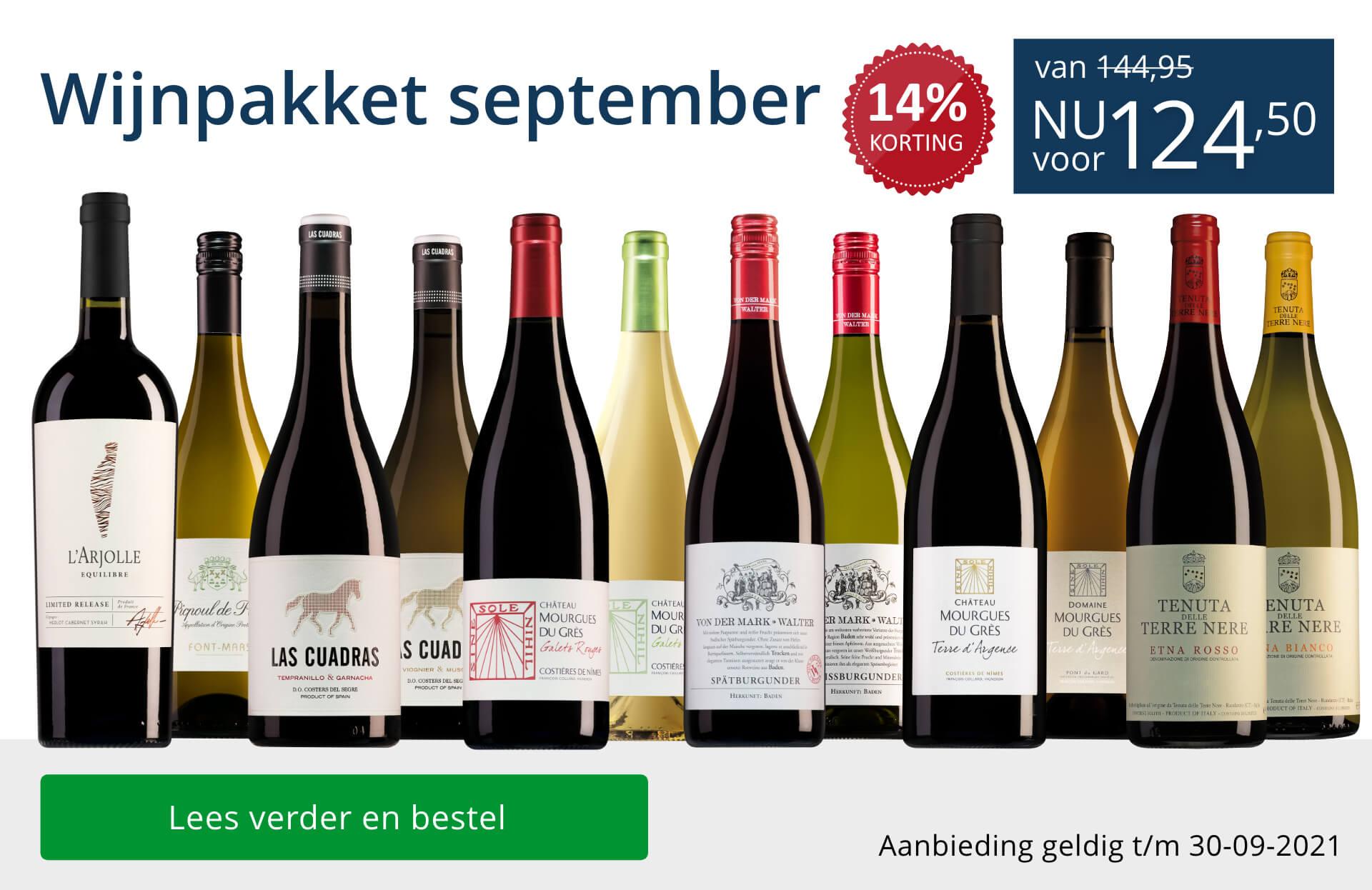 Wijnpakket wijnbericht september 2021 - blauw